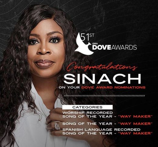 SINACH TO PERFORM AT THE 51ST ANNUAL GMA-DOVE-AWARDS || Praizenation.com